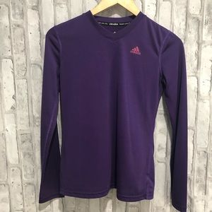 Adidas Womens Purple Climalite Fitness Shirt